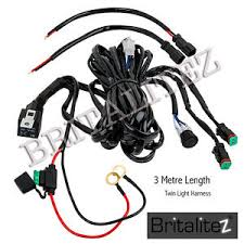 spot light wiring harness includes switch fuse relay for led work image is loading spot light wiring harness includes switch fuse relay