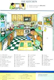 kitchen furniture list. Delighful Kitchen Kitchen Furniture List Excellent On Regarding Vocabulary Living Room Com  Brand 8