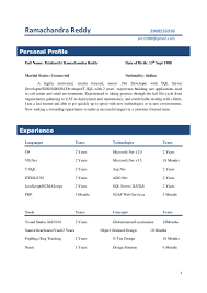 Sample Resume For Software Engineer With 2 Years Experience Sample Resume For Two Year Experience