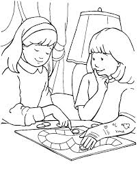 Helping Others Coloring Pages For Preschoolers Kindness Coloring