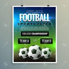 soccer team brochure template soccer football poster flyer template