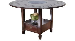 landon chocolate round counter height dining table