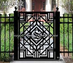metal garden gate pedestrian walk thru