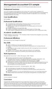 resume for an accountant management accountant cv sample myperfectcv