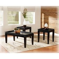 t131 13 ashley furniture delormy almost black living room occasional table set