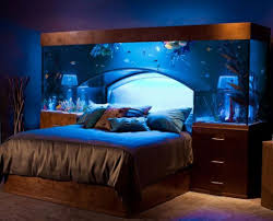 Blue Aquarium Color Unique Headboards with Silver Bedding also Brown Wood  Nights and Feat Drawer Bedroom