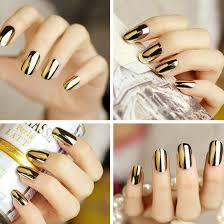 New 2Pcs Gold Silver Nail Art Decoration Stickers Patch Foils ...
