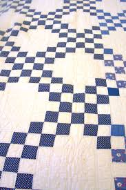 Quilting in The Filson's Collections - The Irish Chain Quilt | The ... & Blue and white double Irish chain patterned quilt with blue trim that was  quilted by a Adamdwight.com