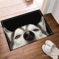 nymb pets husky puppies dogs bath rug non slip floor entryways outdoor indoor front door