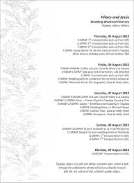 Striking Wedding Itinerary Template Free Ideas Day Word