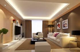 interior lighting design. Light Brown Living Room Interior Design Rendering House Lighting