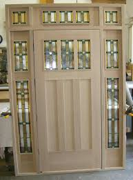 front door with one sidelightCraftsman Front DoorCraftsman Rustic 6 Lite Stained Knotty Alder
