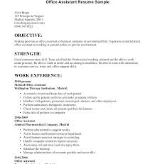 Office Resume Format Resume Format For Office Assistant Job Back ...