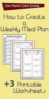 Weekly Menu How to create a weekly meal plan