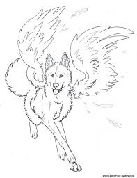 Small Picture winged wolf angel Coloring pages Printable