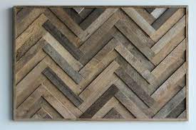 reclaimed wood wall art herringbone 3 d