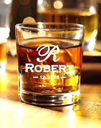 monogrammed scotch glasses custom personalized whiskey engraved glencairn