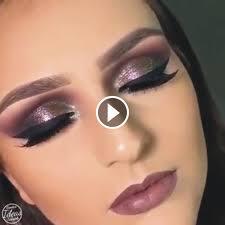 video of lovely beautiful eye makeup