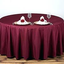 90 inch round linen tablecloth x 156 polyester burdy