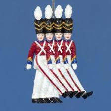 Amazon.com: The Rockettes Toy Soldier Christmas Ornament - Glittering  Holiday Decoration: Home
