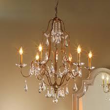 elegance crystal swag chandelier 6 light crystal chandelier lighting15