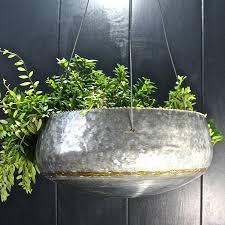 Hanging Planter Galvanised Steel Hanging Planter By London Garden Trading