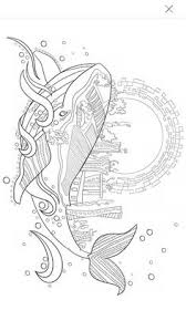 Small Picture Humpback Whale in the Waves and Seaweed Coloring Page Zentangle I
