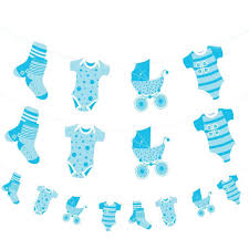 Baby Shower Banner Blue Baby Shower Banner Boy Banners Party Decorations Foil Jointed