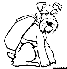 Small Picture schnauzer coloring pages Google Search Mini Schnauzer