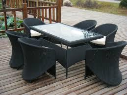 image black wicker outdoor furniture. Image Of: Black Wicker Dining Chairs Outdoor Furniture