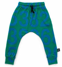 Nununu Numbered Baggy Pants Green