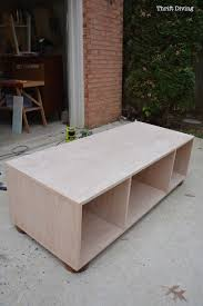 Build a storage bench Banquette Seating How To Build Coffee Table With Storage Thrift Diving 9262 Thrift Diving How To Build Bench With Storage