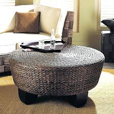 furniture innovative round wicker ottoman coffee table coffee table trunk regarding wicker ottoman coffee table