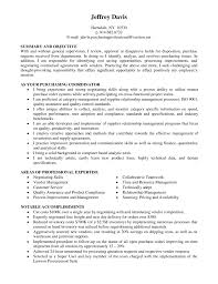 Area Of Expertise Examples For Resume Coordinator Purchasing Agent Clerk Job Description Areas Expertise 61