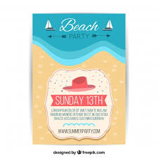 Beach Flyer Beach Party Flyer Template Vector Free Download