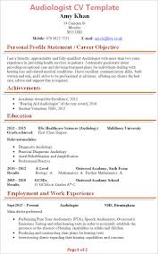 Nhs Resume Examples Cv Template For 6th Formers Cv Template Resume Tips