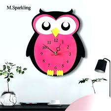 children wall clock kids wall clock new creative cartoon wall clock acrylic owl design colorful silent wall clocks kids kids wall clock home design