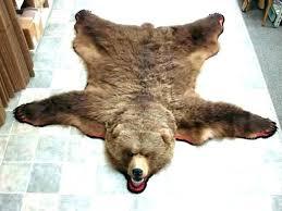 faux bear skin rug s with head for nursery fur cost fake polar
