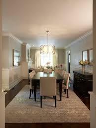 elegant dark wood floor and brown floor dining room photo in toronto with gray walls