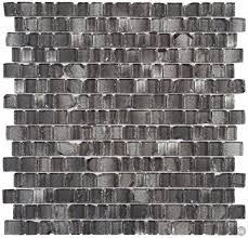 glass tile broken edges irregular mosaic 12 2 x 12 4 black