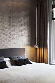 Behang Slaapkamer Grijs Ontzagwekkende Design Behang Slaapkamer