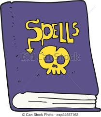 cartoon spell book csp34657163