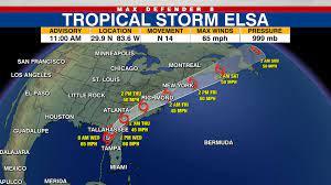 Tropical Storm Elsa weakening as it ...