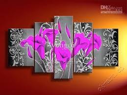 bright wall art set allow mix order the modern wall art home abstract decorative flower oil bright wall art