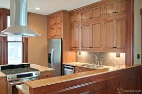 Top 71 Outstanding Contemporary Maple Kitchen Cabinets In Brown With