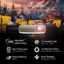 W2700 Cineprime True 4k Projector With Hdr Pro Benq Home Cinema