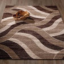 sculpted area rugs city collection contemporary sculpted effect abstract waves beige brown polypropylene area rug 5 sculpted area rugs