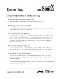 Objective Examples For Resumes Sample Resume Objectives With No Work Experience New Resume 57