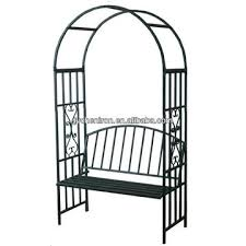 metal garden arch with bench 1 having