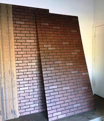 faux brick wall panel home depot